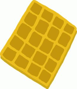 dog makes waffle