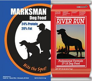 Marksman and River Run dog foods