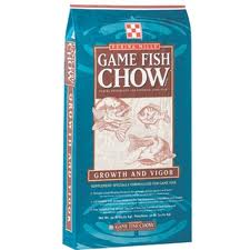Purina game fish chow.